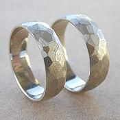 Свадебный салон ручной работы. Ярмарка Мастеров - ручная работа Граненые обручальные кольца из белого золота. Handmade.