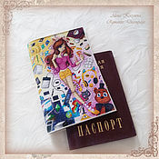 Канцелярские товары handmade. Livemaster - original item Cover for a passport or car documents (with liner)Cover skin. Handmade.