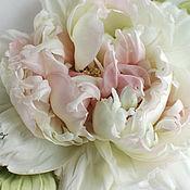 Цветы и флористика handmade. Livemaster - original item fabric flowers. silk flowers. Peony