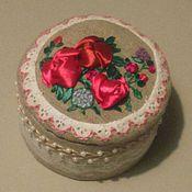 """Для дома и интерьера ручной работы. Ярмарка Мастеров - ручная работа шкатулка """"цветочный торт"""". Handmade."""