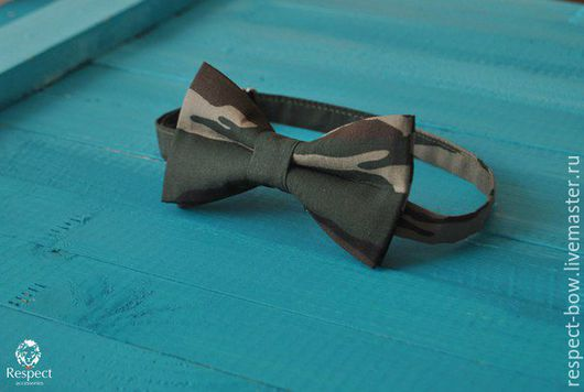 Галстуки, бабочки ручной работы. Ярмарка Мастеров - ручная работа. Купить Галстук бабочка Камуфляж / зеленая бабочка-галстук, армейская, военная. Handmade.