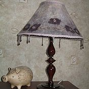 Для дома и интерьера ручной работы. Ярмарка Мастеров - ручная работа Настольная лампа точеная с валяным абажуром. Handmade.