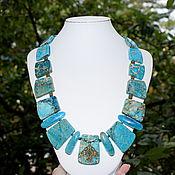 Украшения handmade. Livemaster - original item Gorgeous necklace natural variscite. The author`s work. Handmade.