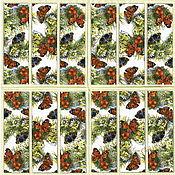 Материалы для творчества handmade. Livemaster - original item 6pcs napkin for decoupage wildflowers butterfly print. Handmade.