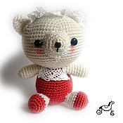 Куклы и игрушки ручной работы. Ярмарка Мастеров - ручная работа Мишка с кружевом. Handmade.