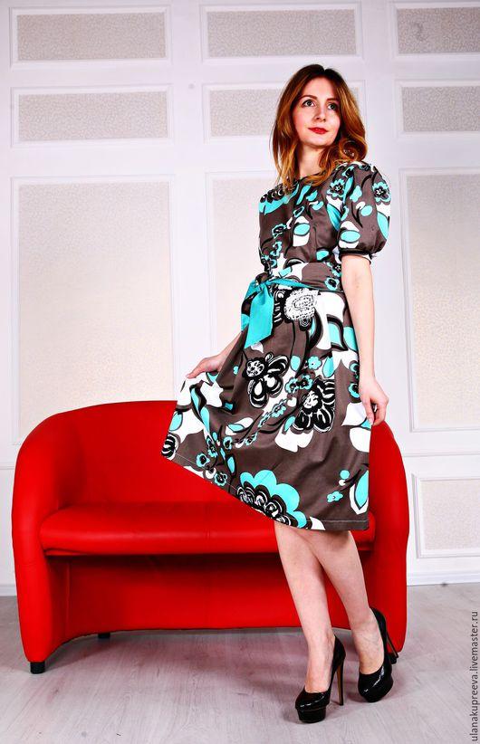 Летнее платье из итальянского хлопка.