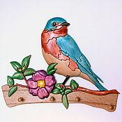 Ключницы ручной работы. Ярмарка Мастеров - ручная работа Ключница с птичкой. Handmade.