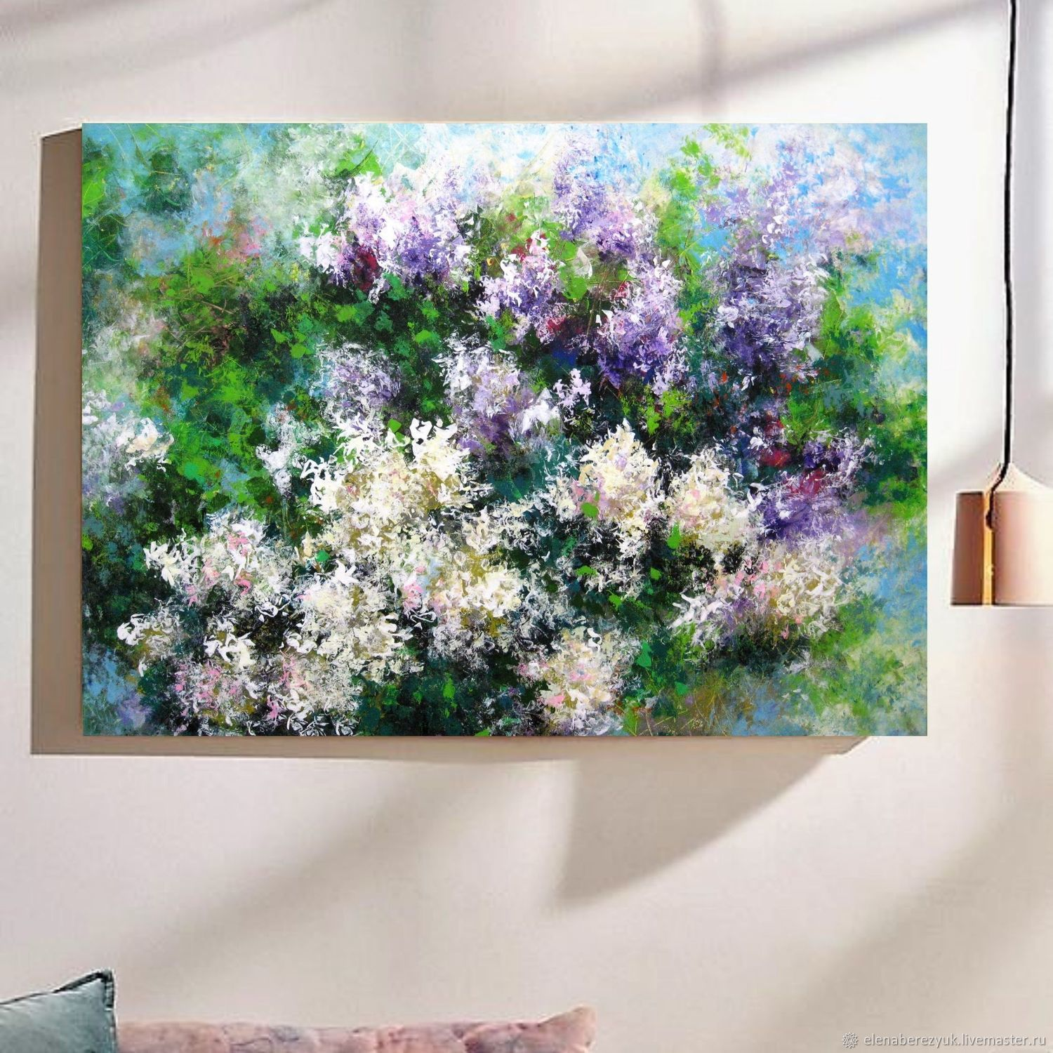 Large abstract Lilac painting on canvas, Pictures, Petrozavodsk,  Фото №1