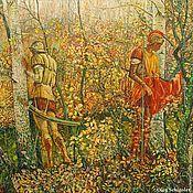 """Картины и панно ручной работы. Ярмарка Мастеров - ручная работа картина """"Римские легионеры"""" (""""Осень"""", серия из 4-х картин ). Handmade."""