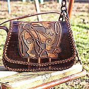 Сумки и аксессуары handmade. Livemaster - original item Women`s handbag brown