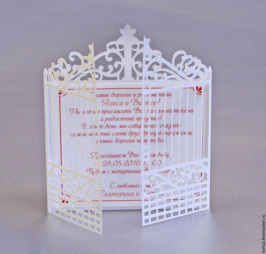 """Свадебные аксессуары ручной работы. Ярмарка Мастеров - ручная работа. Купить """"Ворота"""" приглашение. Handmade. Комбинированный, свадьба"""