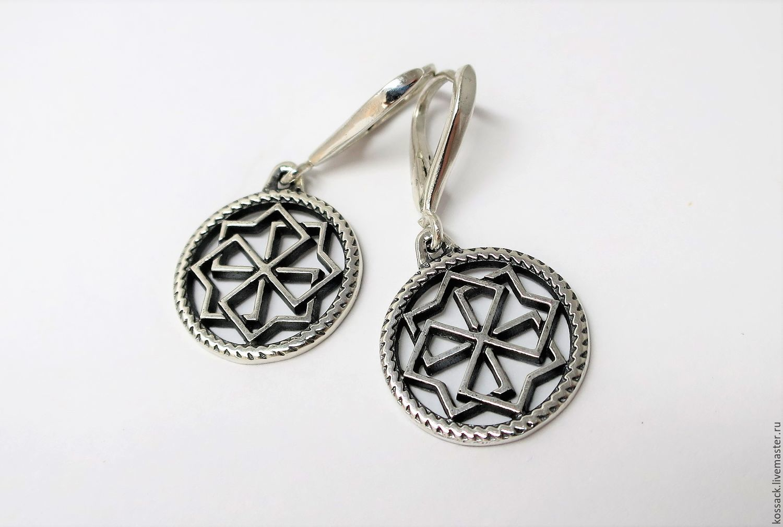 Molvinets earrings for woman amulet guard, Earrings, Zaporozhye,  Фото №1