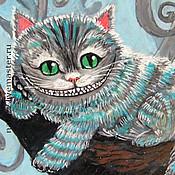 """Для дома и интерьера ручной работы. Ярмарка Мастеров - ручная работа Доска """"Чеширский кот"""". Handmade."""