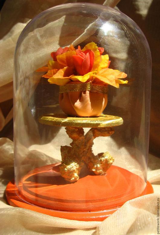 Статуэтки ручной работы. Ярмарка Мастеров - ручная работа. Купить Миниатюра №15. Handmade. Оранжевый, сувенир, интерьер, букет