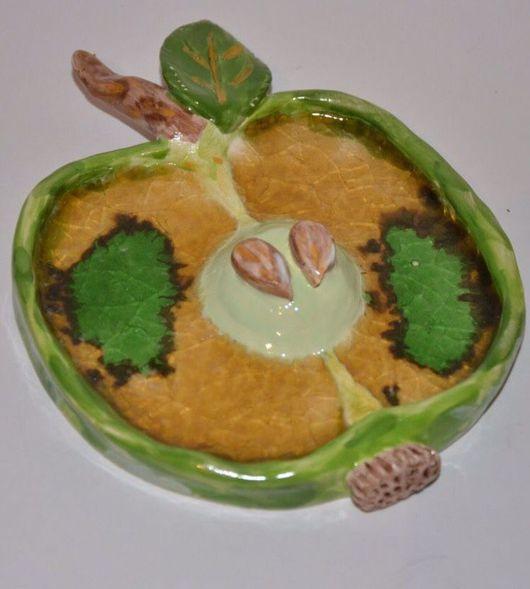 """Натюрморт ручной работы. Ярмарка Мастеров - ручная работа. Купить """"Зеленое Яблоко"""" настенное панно со стеклом (поколение 1). Handmade."""