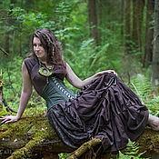 Одежда ручной работы. Ярмарка Мастеров - ручная работа Корсет под грудь исторический из льна. Handmade.