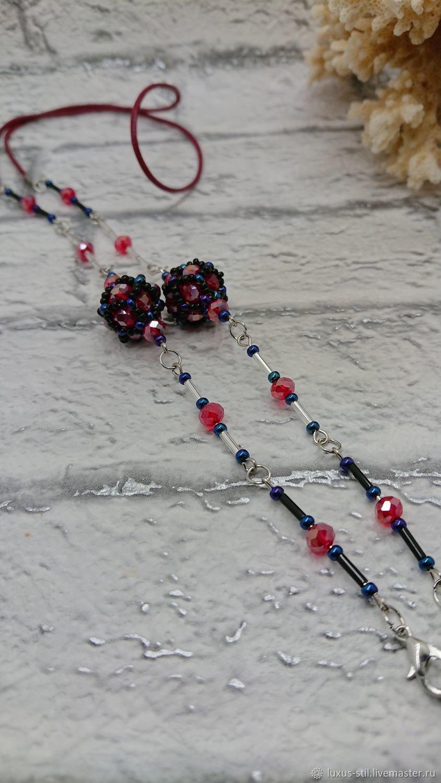 Chains for glasses: Red flower, Chain for glasses, Podolsk,  Фото №1