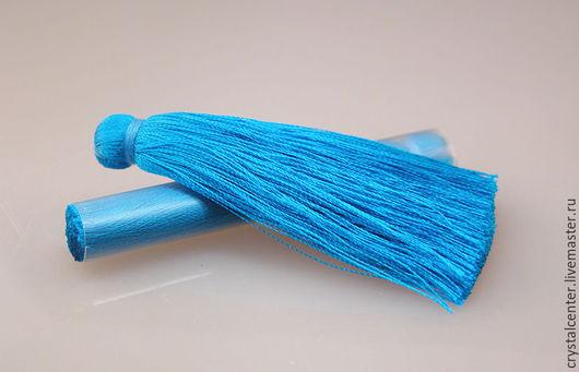 Для украшений ручной работы. Ярмарка Мастеров - ручная работа. Купить Кисточки для серег - яркий голубой. Handmade. Фурнитура для украшений