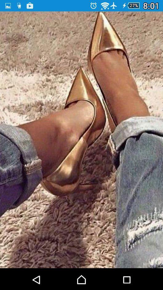 """Обувь ручной работы. Ярмарка Мастеров - ручная работа. Купить Женские лодочки""""Бианка"""" каблук 10 см. Handmade. Женская обувь"""