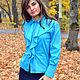 Блузки ручной работы. Блузка синяя. Sauterelle sale. Интернет-магазин Ярмарка Мастеров. Однотонный, блузка нарядная, скидка