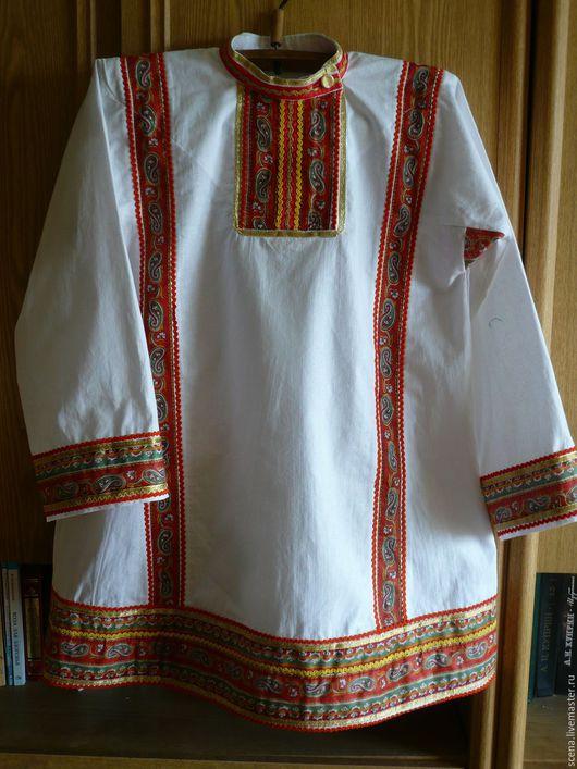 Одежда ручной работы. Ярмарка Мастеров - ручная работа. Купить Народная рубаха мужская. Handmade. Народная рубаха мужская, хлопок
