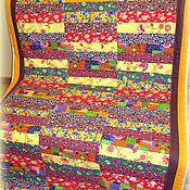 Для дома и интерьера ручной работы. Ярмарка Мастеров - ручная работа Яркое лоскутное покрывало. Handmade.