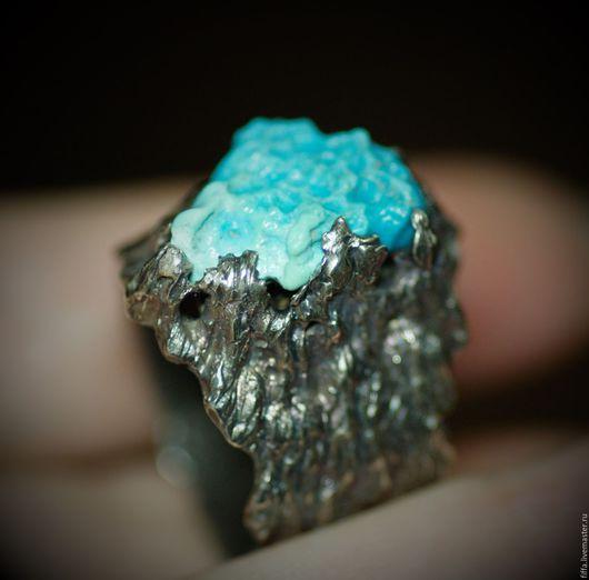 """Кольца ручной работы. Ярмарка Мастеров - ручная работа. Купить Кольцо """"Reef"""".. Handmade. Бирюзовый, унисекс, ring, натуральный камень"""