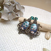 Украшения handmade. Livemaster - original item Earrings Cheshire cat Alice in Wonderland Vintage Tale. Handmade.