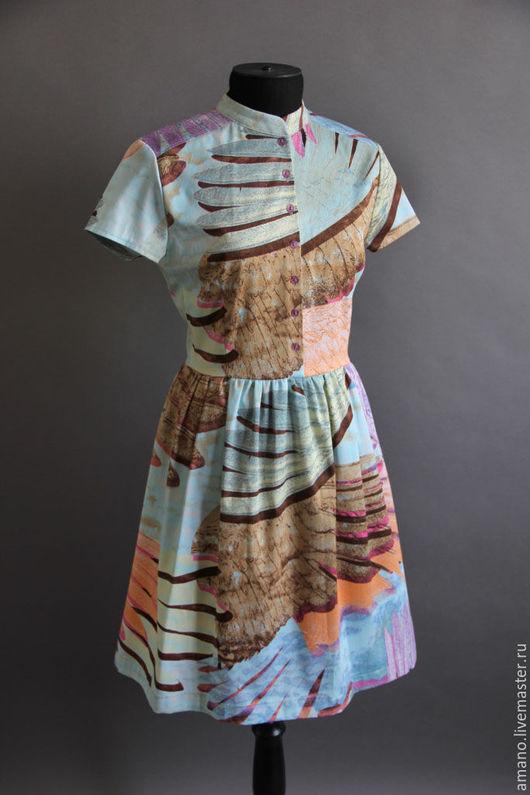 Платья ручной работы. Ярмарка Мастеров - ручная работа. Купить Разноцветное платье. Handmade. Комбинированный, платье, одежда, женская одежда