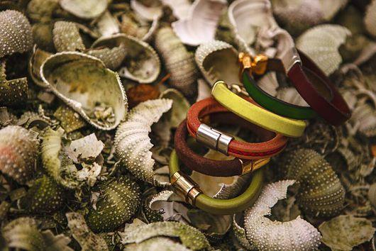 Браслеты ручной работы. Ярмарка Мастеров - ручная работа. Купить Кожаные браслеты. Handmade. Браслеты, кожаные изделия