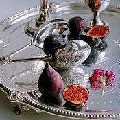 Винтаж handmade. Livemaster - original item Vintage large silver-plated dessert tongs Italy. Handmade.