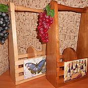 Для дома и интерьера ручной работы. Ярмарка Мастеров - ручная работа Ящик, короб для вина. Декупаж. Handmade.