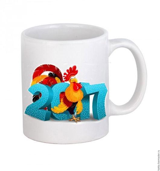 """Кружки и чашки ручной работы. Ярмарка Мастеров - ручная работа. Купить Кружка """" Петух символ  года """". Handmade."""