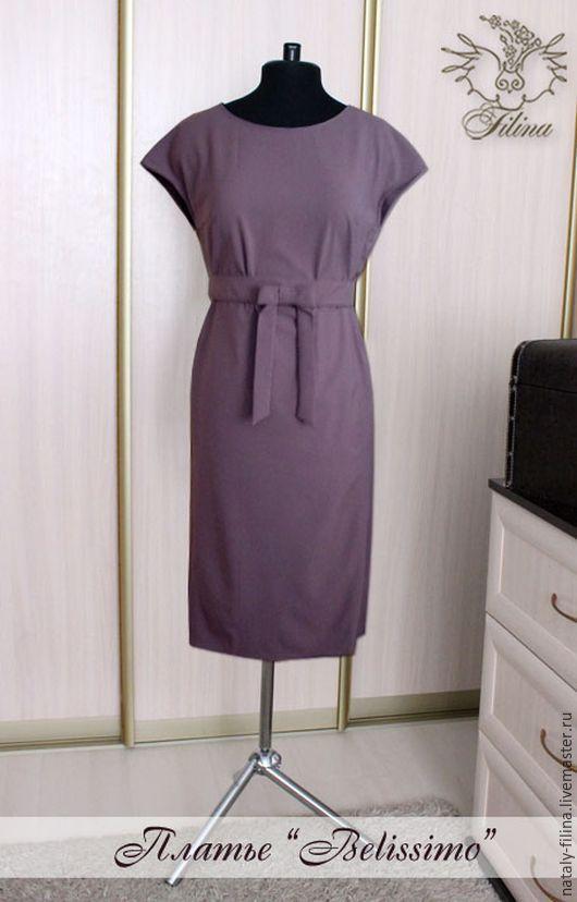 """Платья ручной работы. Ярмарка Мастеров - ручная работа. Купить Платье """"Belissimo"""" / офисное платье / трикотажное платье. Handmade."""
