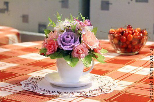 """Персональные подарки ручной работы. Ярмарка Мастеров - ручная работа. Купить Композиция """"Чайная церемония"""". Handmade. Бледно-розовый"""