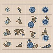 Материалы для творчества handmade. Livemaster - original item Dense filling folk pattern elements_pes hus jef dst exp vp3 vip xxx_. Handmade.