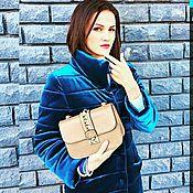 Одежда ручной работы. Ярмарка Мастеров - ручная работа Бархатное пальто. Handmade.