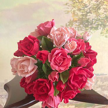 Цветы и флористика ручной работы. Ярмарка Мастеров - ручная работа Букет с розами из зефирной глины. Handmade.