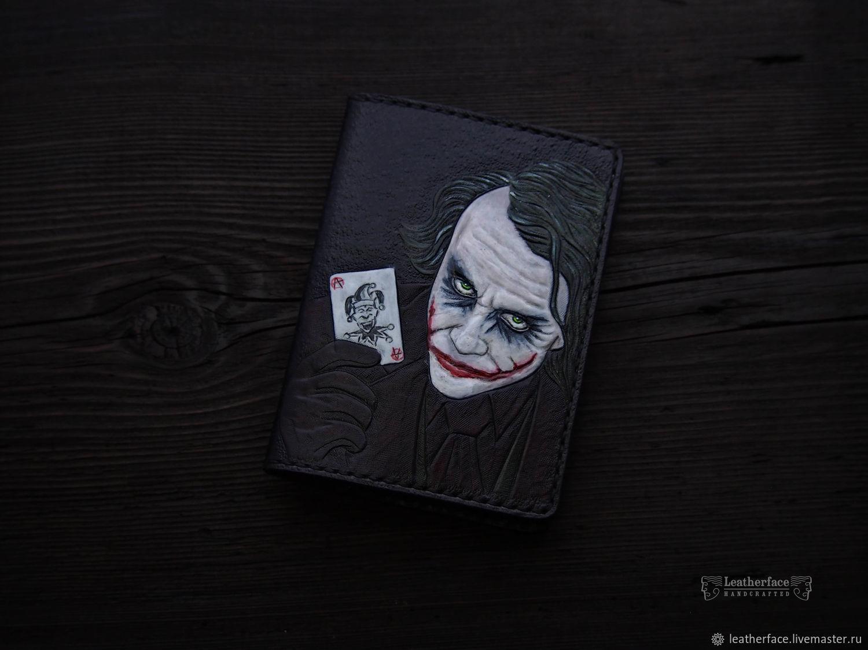 Обложка из кожи для паспорта Джокер, Обложка на паспорт, Ставрополь,  Фото №1