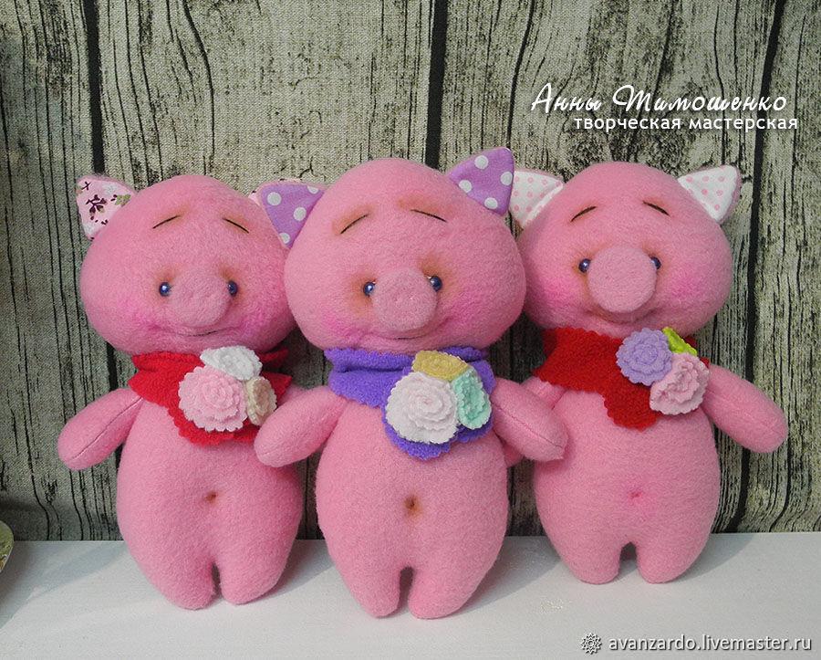 """Год Свиньи ручной работы. Ярмарка Мастеров - ручная работа. Купить Свинки хрюшки """"Малыши"""". Handmade. Новый Год, свинья"""