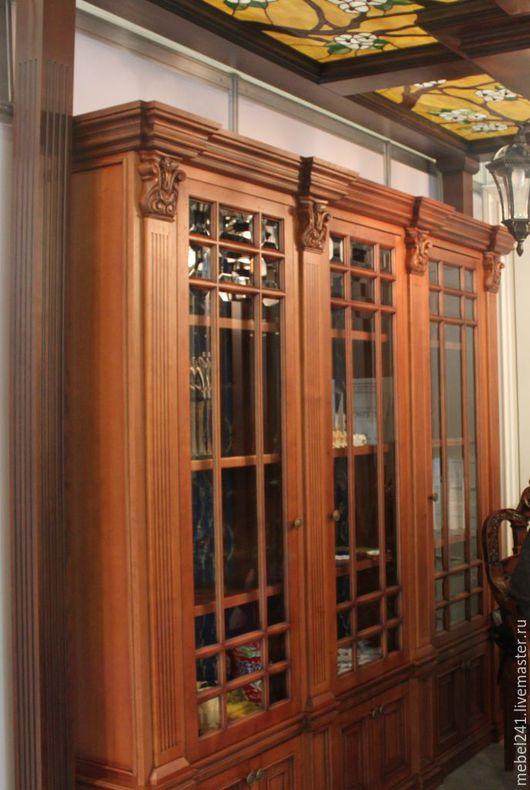 Мебель ручной работы. Ярмарка Мастеров - ручная работа. Купить Шкаф в кабинет из натурального дерева. Handmade. Коричневый, кабинет, шкаф