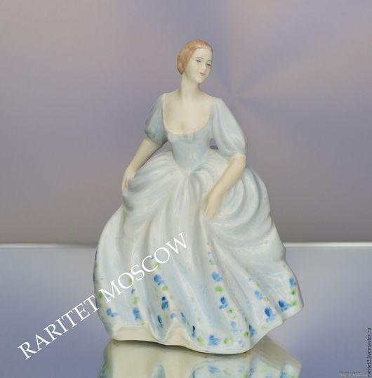 Винтажные предметы интерьера. Ярмарка Мастеров - ручная работа. Купить Девушка статуэтка COALPORT Англия 43. Handmade. Разноцветный, дама