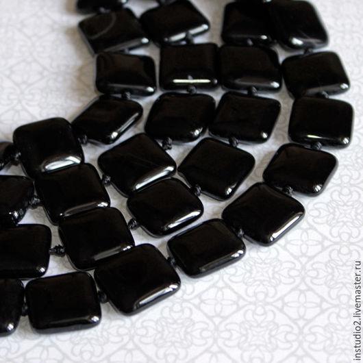 Для украшений ручной работы. Ярмарка Мастеров - ручная работа. Купить Агат 16 мм квадрат бусины камни для украшений. Handmade.