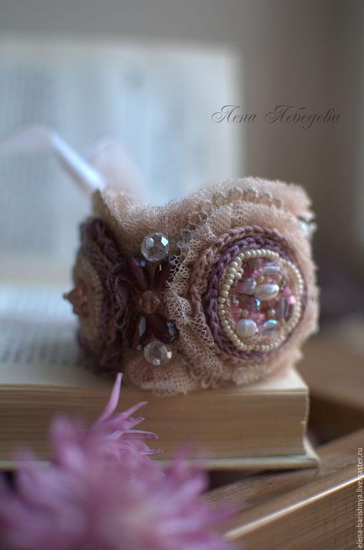Винтажный браслет `Наслаждение` Кружевные украшения ручной работы Ярмарка Мастеров