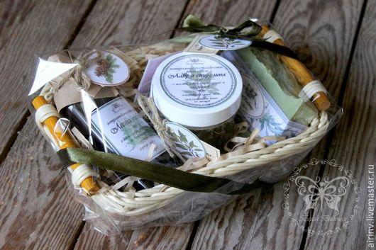 """Подарочные наборы косметики ручной работы. Ярмарка Мастеров - ручная работа. Купить """"ЛАВРОВЫЙ"""" подарочный набор натурального мыла с нуля. Handmade."""