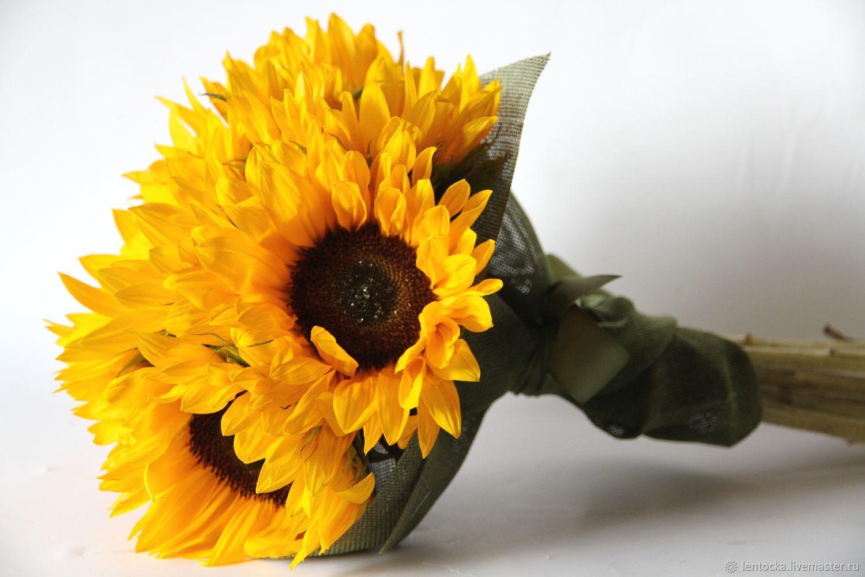 """Букет """"Подсолнухи"""" Живые цветы, Букеты, Москва,  Фото №1"""