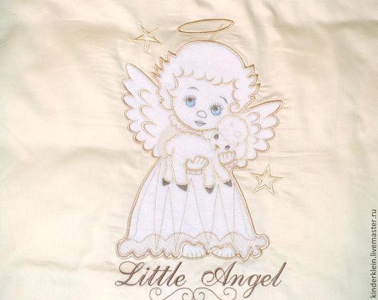 """Детская ручной работы. Ярмарка Мастеров - ручная работа. Купить Комплект постельного белья """" Ангел с овечкой"""". Handmade."""