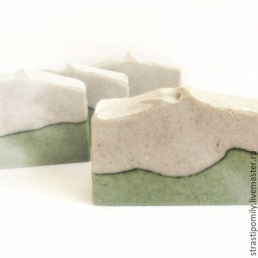 Мыло ручной работы. Ярмарка Мастеров - ручная работа. Купить Рассул, шафран и зелёная глина мыло с нуля мужчине женщине. Handmade.
