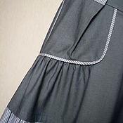 Одежда ручной работы. Ярмарка Мастеров - ручная работа Джинсовая юбка бохо-стиль. Handmade.