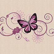 Материалы для творчества handmade. Livemaster - original item Machine Embroidery Design Butterfly bt019. Handmade.